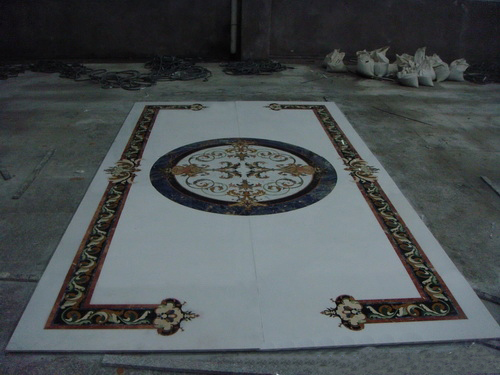 Marble Floor Inlay, China. ALSM011
