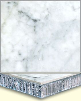 Marble Aluminum Honeycomb Composite Tiles AL001, China
