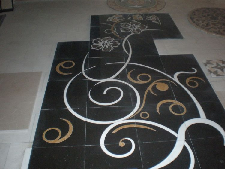 Water Jet Marble Floor Inlays, China. ALSM021