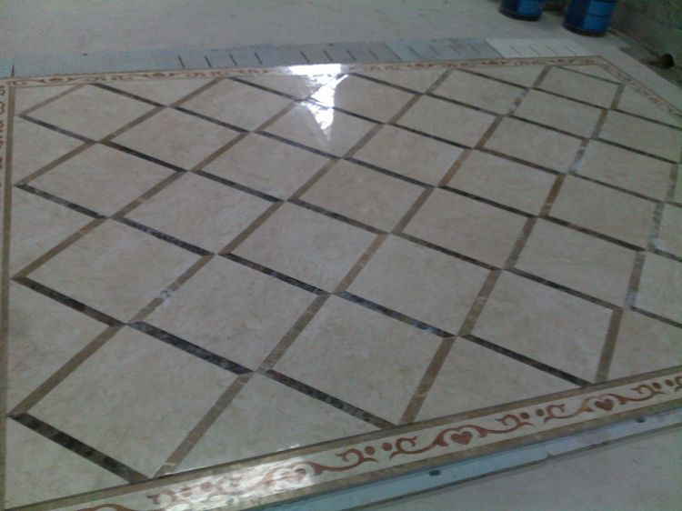 Water Jet Marble Floor Inlays, China. ALSM022