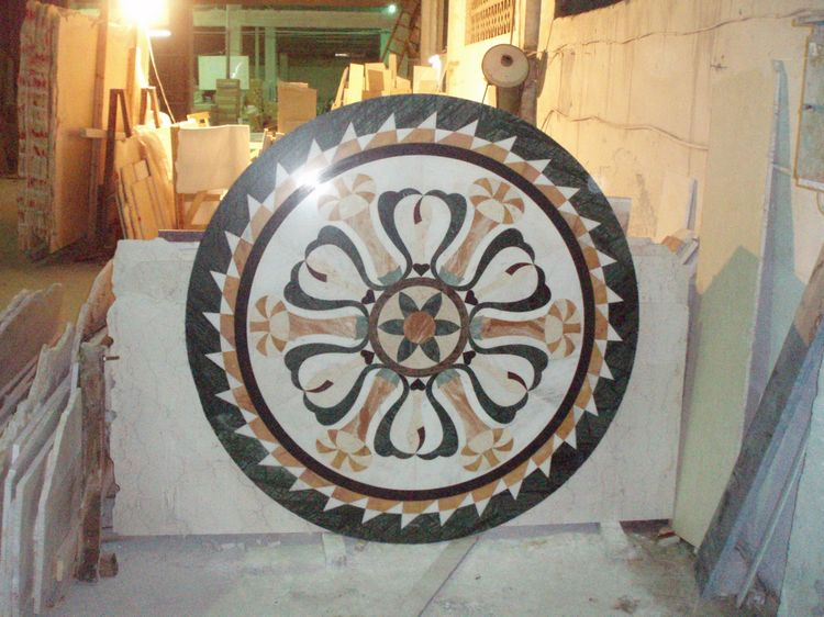 Water Jet Stone Medallions, China. ALSM053