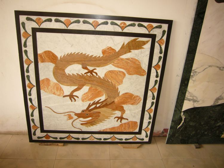 Marble Tile Inlay, China. ALSM058