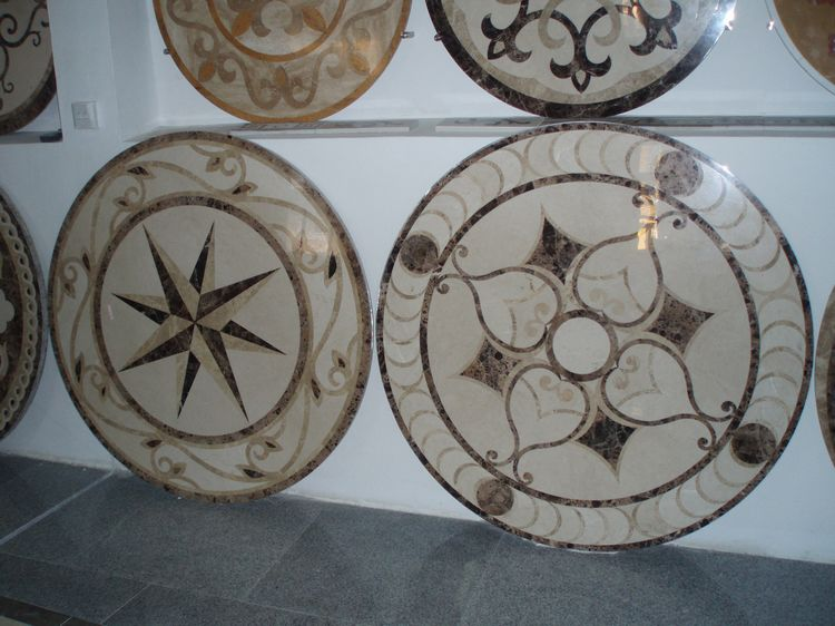 Water Jet Stone Medallions, China. ALSM061