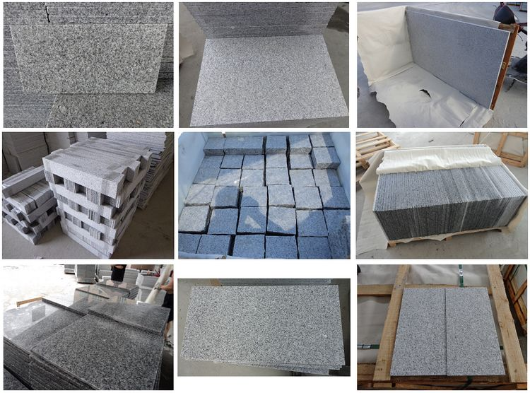 Chinese Granite G603 Tiles,Polished, Flamed, Honed