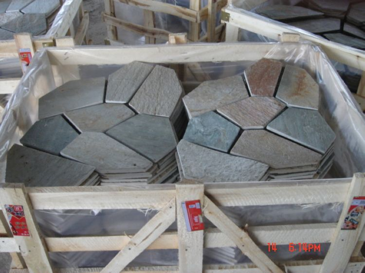 Chinese Slate Paving Stones, China. ALPS024