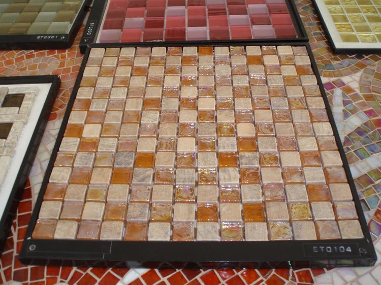 Chinese Artificial Marble Mosaic Tiles, AL057