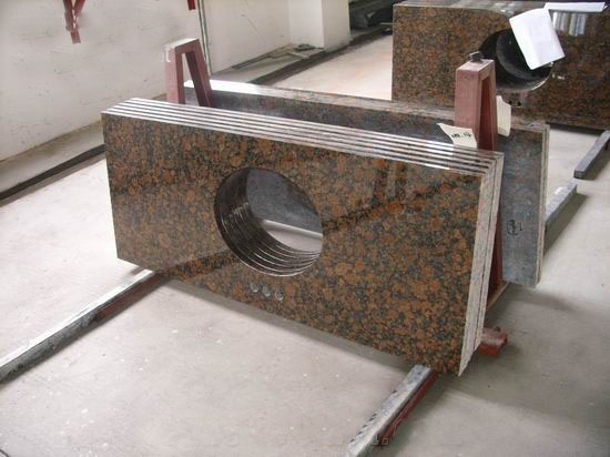 Brown Granite Stone Vanity Tops, China. 041