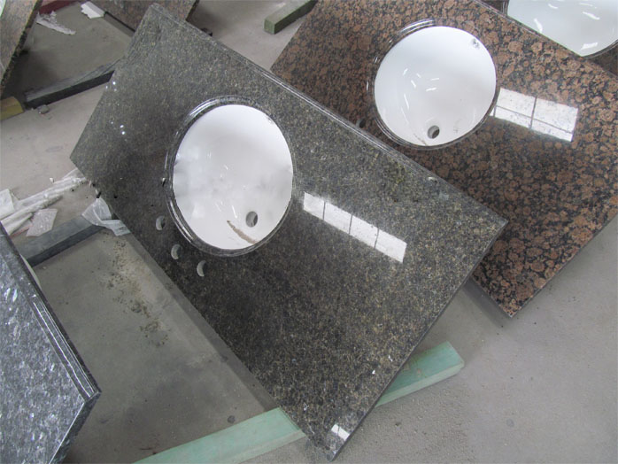 Brown Granite Bathroom Vanity Tops, China. 037