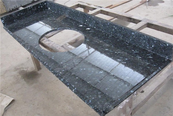 Blue Pearl Granite Vanity Top, China. 042
