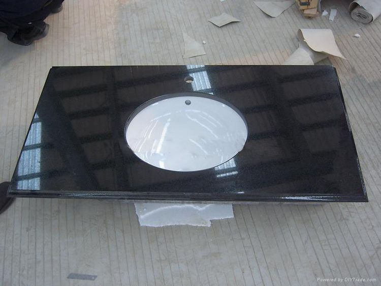 Black Granite Bath Vanity Tops, China. 039
