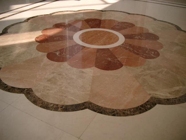 CNC Medallion Stone Tiles, China. ALSM087