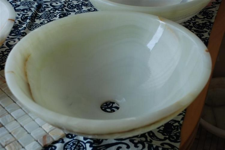 Natural Onyx Stone Sink, China.