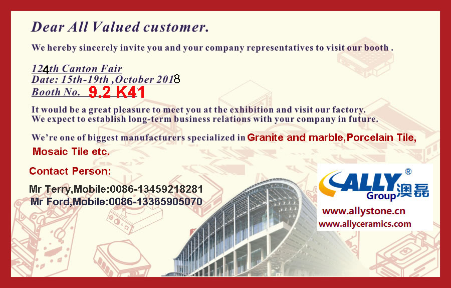 Warmly Welcome you to visit Canton Fair (From Oct 15th~19th), Our Booth No.: 9
